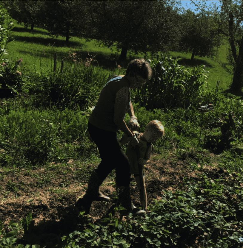 Vreni im Garten